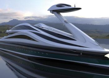 Avanguardia Swan Shaped Mega Yacht